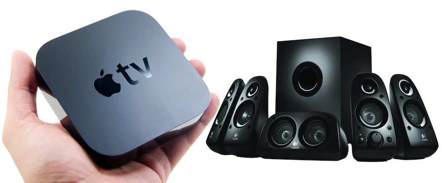 can you hook up surround sound to apple tv Trying to get tv sound through stereo receiver you should use a toslink cable to connect your tv's digital the surround sound you hear is created by the.